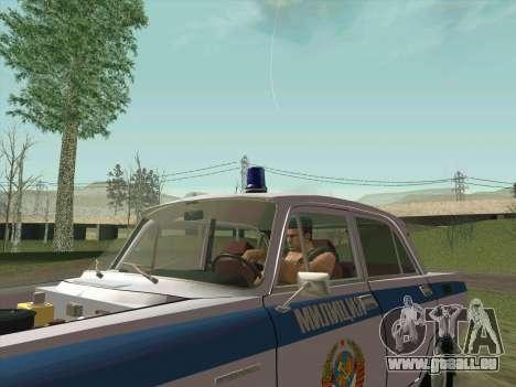 Moskvich 2140 Police pour GTA San Andreas moteur