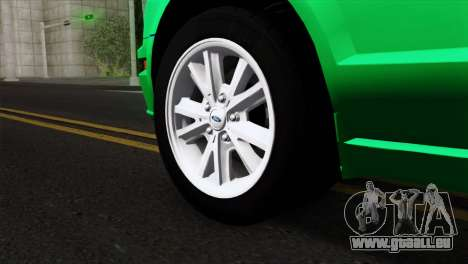 Ford Mustang GT Wheels 2 pour GTA San Andreas sur la vue arrière gauche