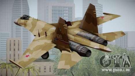 SU-27 Warwolf Squadron pour GTA San Andreas laissé vue