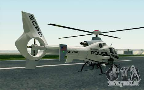 NFS HP 2010 Police Helicopter LVL 1 pour GTA San Andreas laissé vue