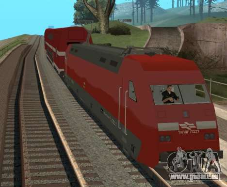 Israeli Train für GTA San Andreas linke Ansicht