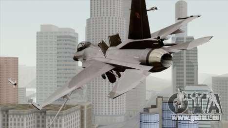 F-16C Block 52 pour GTA San Andreas laissé vue