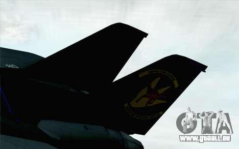 F-14 Raptor Squadron Force pour GTA San Andreas sur la vue arrière gauche