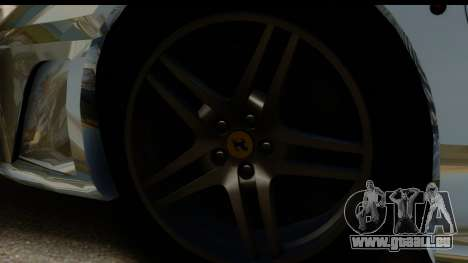 Ferrari F430 Chrome pour GTA San Andreas sur la vue arrière gauche