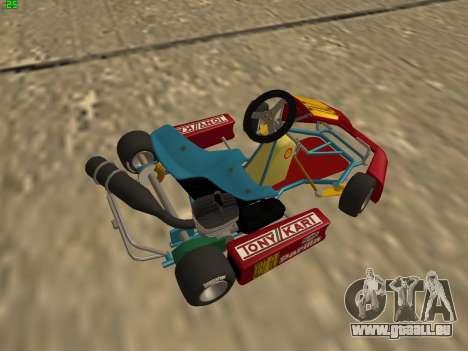 Kart per XiorXorn pour GTA San Andreas sur la vue arrière gauche