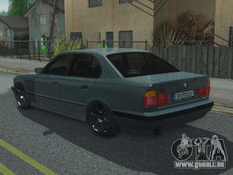BMW 525 E34 Tune pour GTA San Andreas laissé vue