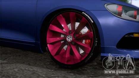 Volkswagen Scirocco GT 2009 pour GTA San Andreas sur la vue arrière gauche