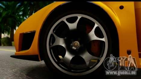Noble M600 2010 HQLM pour GTA San Andreas vue intérieure