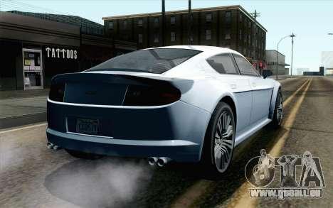 GTA 5 Dewbauchee Exemplar IVF pour GTA San Andreas laissé vue