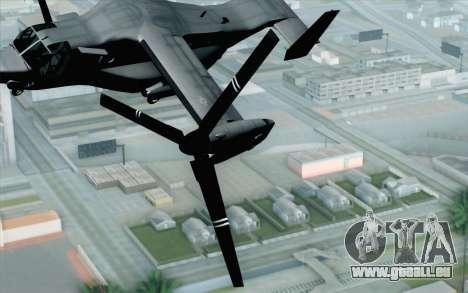 MV-22 Osprey VMM-265 Dragons für GTA San Andreas Rückansicht