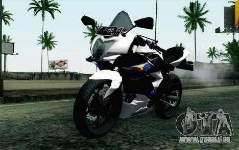 Kawasaki Ninja 250RR Mono White für GTA San Andreas