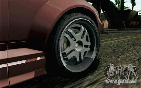 GTA 5 Benefactor Schafter SA Mobile pour GTA San Andreas sur la vue arrière gauche