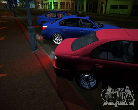 BMW 5-series E39 Vossen pour GTA San Andreas vue intérieure