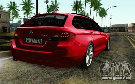BMW 530d F11 Facelift IVF pour GTA San Andreas vue arrière