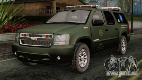 Chevrolet Suburban National Guard MedEvac für GTA San Andreas