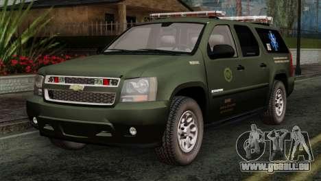 Chevrolet Suburban National Guard MedEvac pour GTA San Andreas