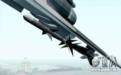 Dassault Mirage 2000 ISAF für GTA San Andreas Rückansicht