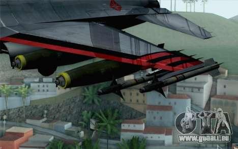 F-16 15th Fighter Squadron Windhover für GTA San Andreas rechten Ansicht