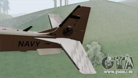 Embraer A-29B Super Tucano Navy White für GTA San Andreas zurück linke Ansicht