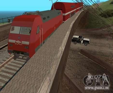 Israeli Train für GTA San Andreas zurück linke Ansicht