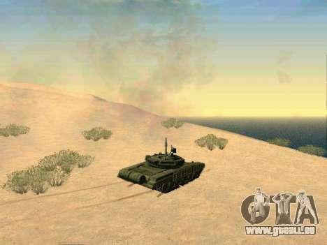 Réservoir T-72B pour GTA San Andreas vue intérieure