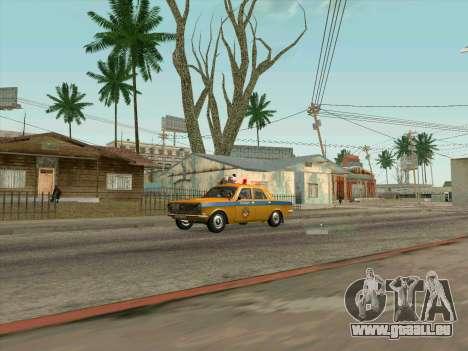 Volga 24-10 GAI pour GTA San Andreas sur la vue arrière gauche