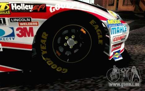 NASCAR Chevrolet Impala 2012 Plate Track pour GTA San Andreas sur la vue arrière gauche