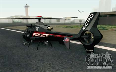NFS HP 2010 Police Helicopter LVL 3 für GTA San Andreas linke Ansicht