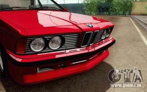 BMW M635CSI E24 1986 V1.0 für GTA San Andreas rechten Ansicht
