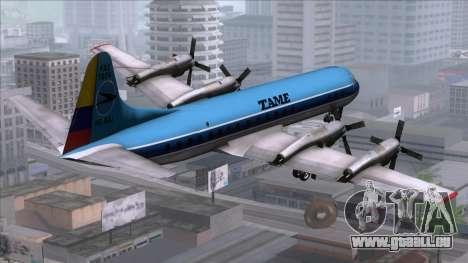L-188 Electra TAME pour GTA San Andreas laissé vue