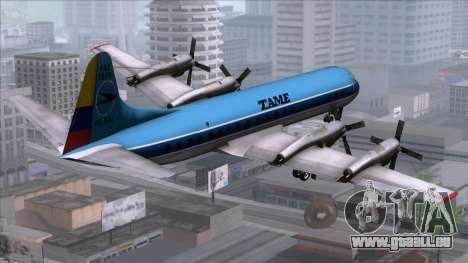 L-188 Electra TAME für GTA San Andreas linke Ansicht