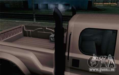 Vapid Guardian GTA 5 pour GTA San Andreas vue arrière