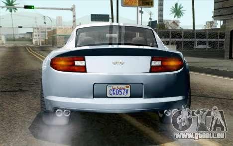 GTA 5 Dewbauchee Exemplar IVF pour GTA San Andreas vue arrière