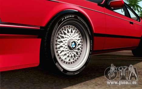 BMW M635CSI E24 1986 V1.0 für GTA San Andreas zurück linke Ansicht