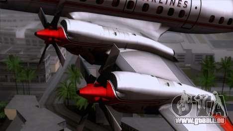L-188 Electra American Als pour GTA San Andreas vue arrière