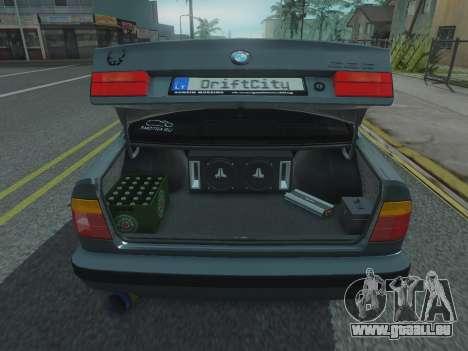 BMW 525 E34 Tune pour GTA San Andreas vue arrière