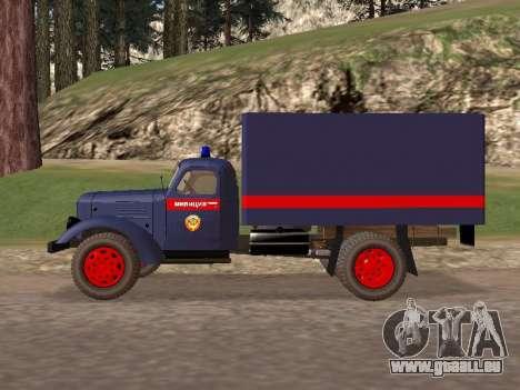 ZIL 157 de la police pour GTA San Andreas laissé vue