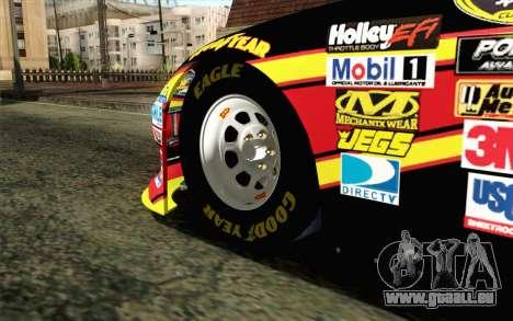 NASCAR Toyota Camry 2012 Short Track pour GTA San Andreas sur la vue arrière gauche
