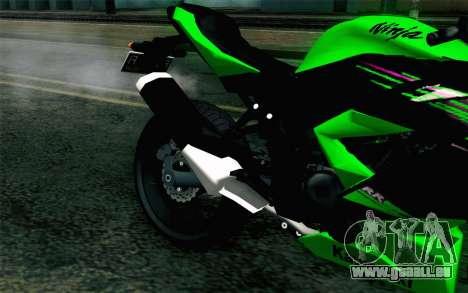 Kawasaki Ninja 250RR Mono Green pour GTA San Andreas vue arrière