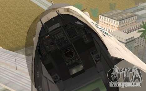 Mitsubishi F-2 Blue JASDF Skin für GTA San Andreas rechten Ansicht