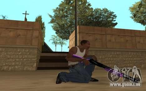 Purple Weapon Pack by Cr1meful pour GTA San Andreas cinquième écran