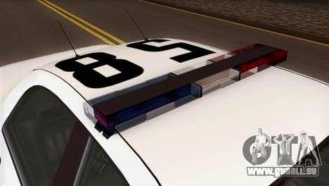 GTA 5 Vapid Stanier Sheriff SA Style pour GTA San Andreas vue arrière