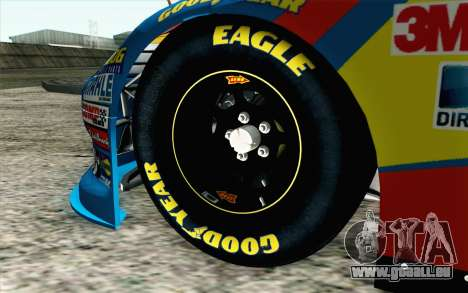 NASCAR Ford Fusion 2012 Short Track für GTA San Andreas zurück linke Ansicht
