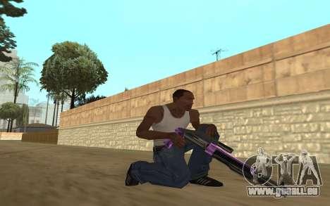Purple Weapon Pack by Cr1meful pour GTA San Andreas quatrième écran
