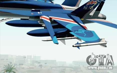 F-18D RAAF 20th Anniversary pour GTA San Andreas vue de droite