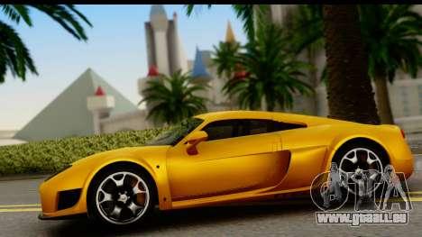 Noble M600 2010 HQLM pour GTA San Andreas vue arrière
