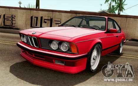 BMW M635CSI E24 1986 V1.0 für GTA San Andreas