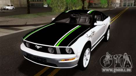 Ford Mustang GT Wheels 2 pour GTA San Andreas vue intérieure