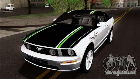 Ford Mustang GT Wheels 2 für GTA San Andreas Innenansicht