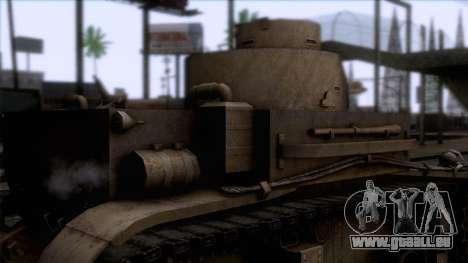 M2 Light Tank pour GTA San Andreas vue arrière